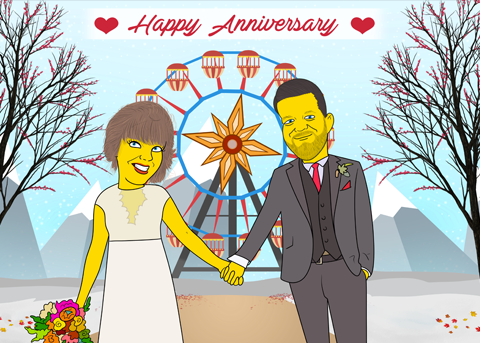 GIFTS FOR ANNIVERSARY 2 in 1 - Couple Half Body Personalized Avatar