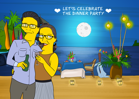 GIFTS FOR THE PARTY HOST With My Love - Couple Full Body - Personalized Avatar