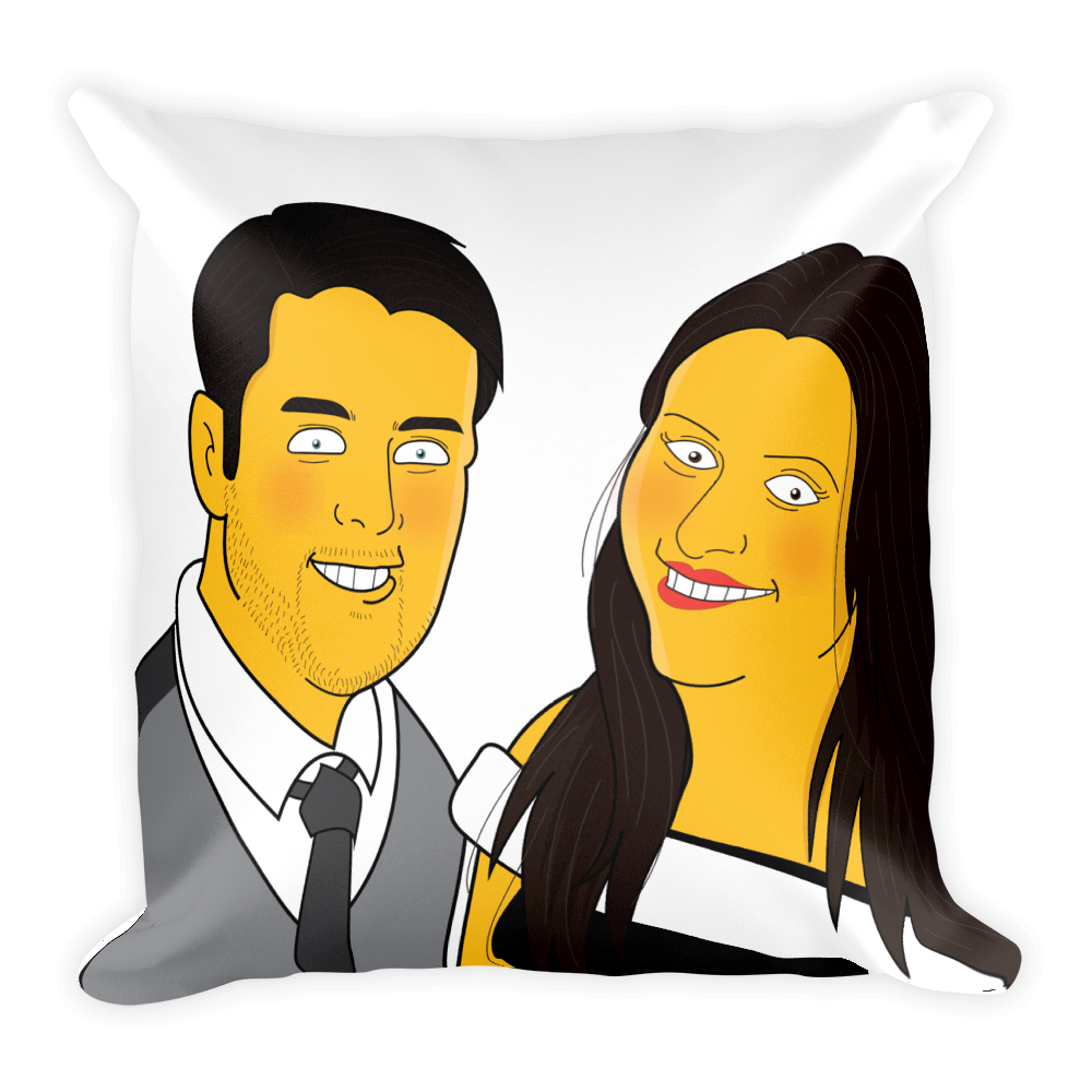 Pillow  Family on couch (Max. 4 members) - Personalized Avatar