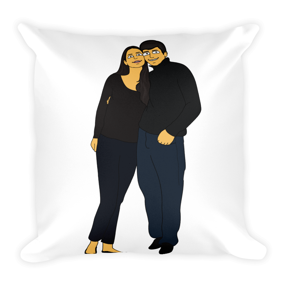 Pillow  With My Love - Couple Full Body - Personalized Avatar