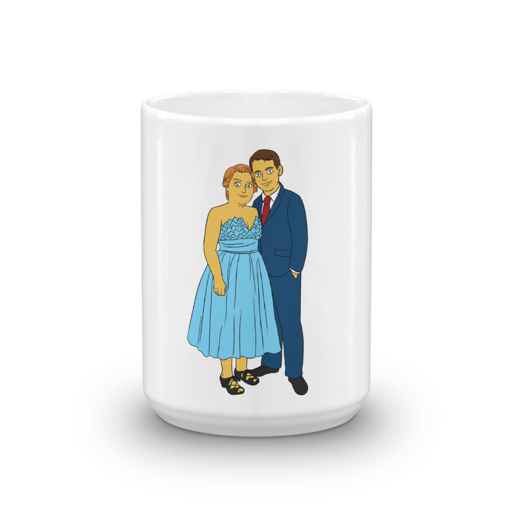 Mug  With My Love - Couple Full Body - Personalized Avatar