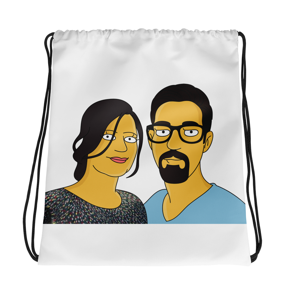 Bag  2 in 1 - Couple Half Body Personalized Avatar