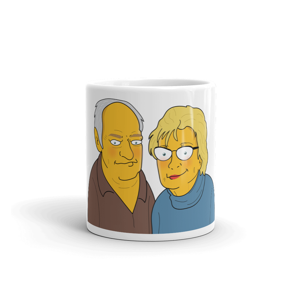 Mug  2 in 1 - Couple Half Body Personalized Avatar